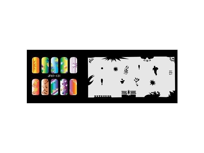 Šablona na nechty (airbrush nail art) Fengda  JFH07-131