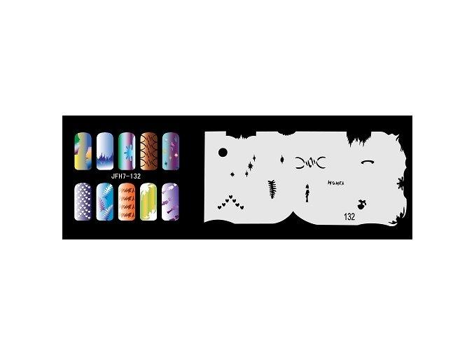 Šablona na nechty (airbrush nail art) Fengda  JFH07-132