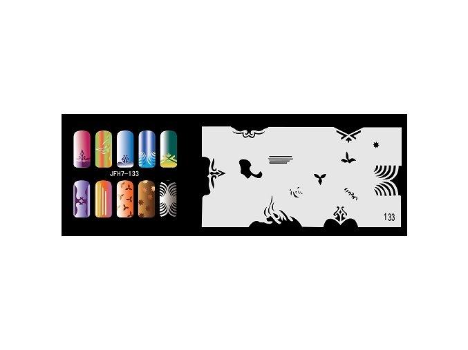 Šablona na nechty (airbrush nail art) Fengda  JFH07-133