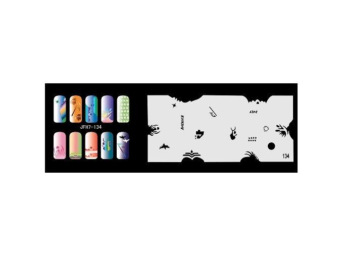 Šablona na nechty (airbrush nail art) Fengda  JFH07-134