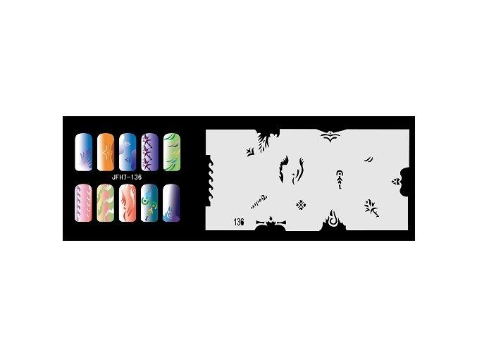 Šablona na nechty (airbrush nail art) Fengda  JFH07-136