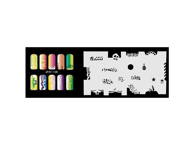 Šablona na nechty (airbrush nail art) Fengda  JFH07-138
