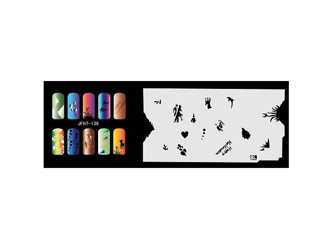 Šablona na nechty (airbrush nail art) Fengda  JFH07-139