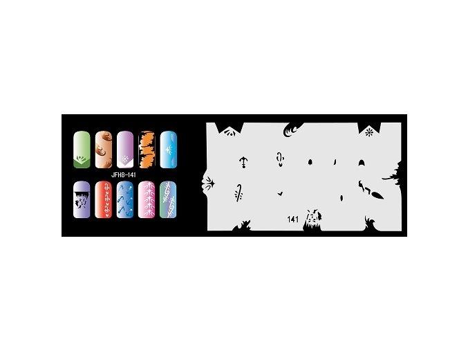 Šablona na nechty (airbrush nail art) Fengda  JFH08-141