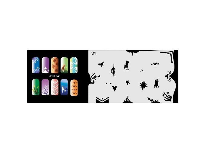 Šablona na nechty (airbrush nail art) Fengda  JFH08-143
