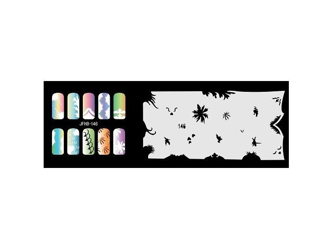 Šablona na nechty (airbrush nail art) Fengda  JFH08-146