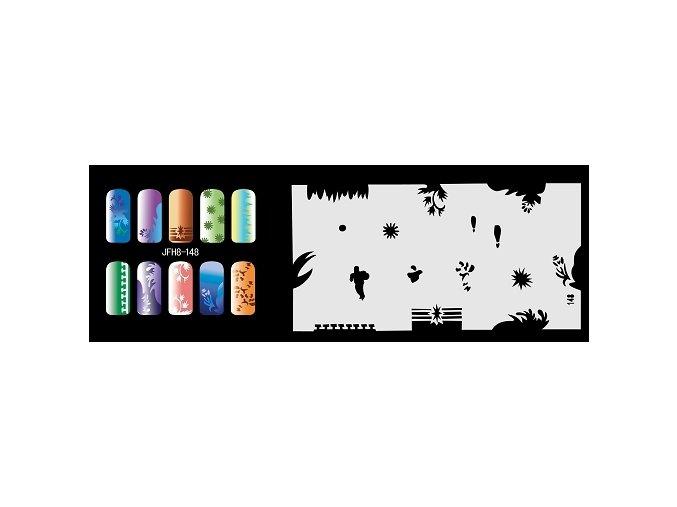 Šablona na nechty (airbrush nail art) Fengda  JFH08-148