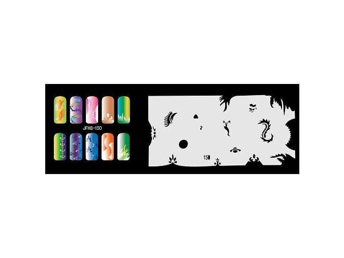 Šablona na nechty (airbrush nail art) Fengda  JFH08-150