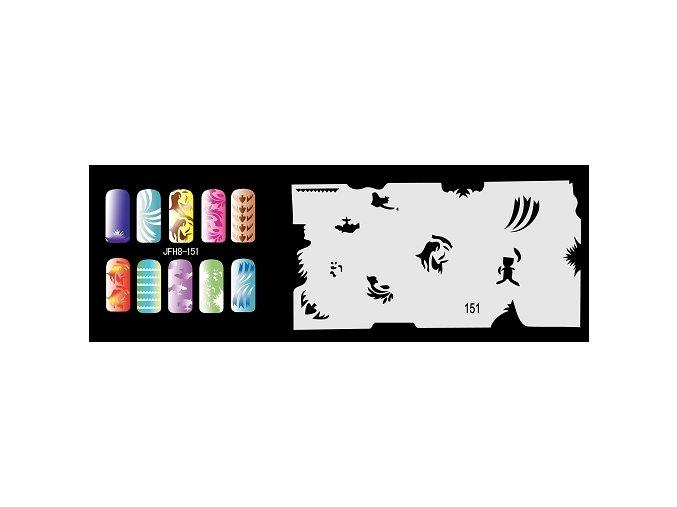Šablona na nechty (airbrush nail art) Fengda  JFH08-151