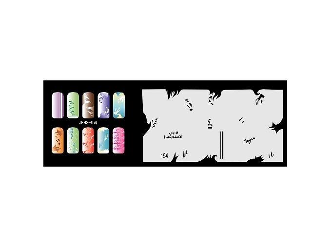 Šablona na nechty (airbrush nail art) Fengda  JFH08-154