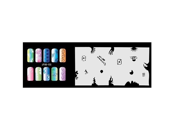 Šablona na nechty (airbrush nail art) Fengda  JFH08-155