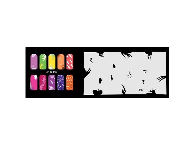 Šablona na nechty (airbrush nail art) Fengda  JFH08-156