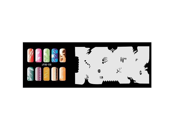 Šablona na nechty (airbrush nail art) Fengda  JFH08-159