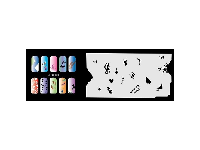 Šablona na nechty (airbrush nail art) Fengda  JFH08-160