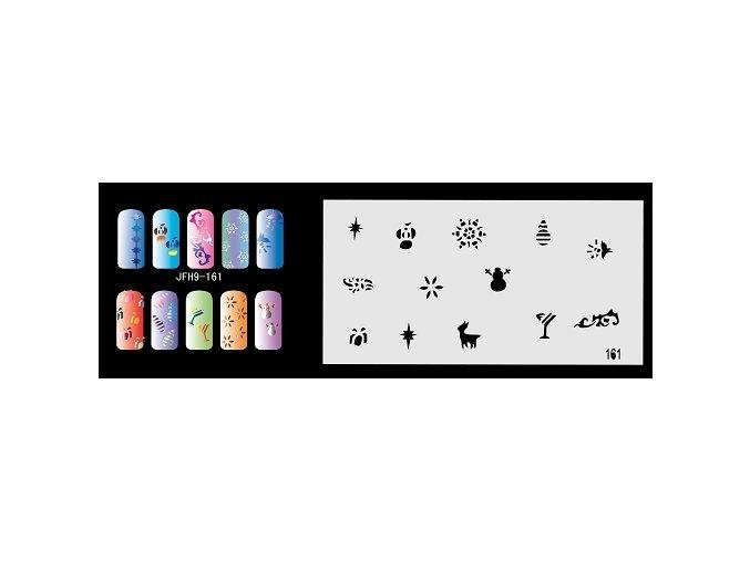 Šablona na nechty (airbrush nail art) Fengda  JFH09-161