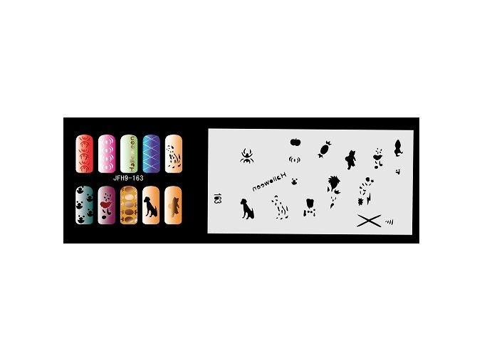 Šablona na nechty (airbrush nail art) Fengda  JFH09-163