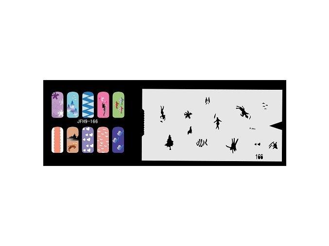 Šablona na nechty (airbrush nail art) Fengda  JFH09-166
