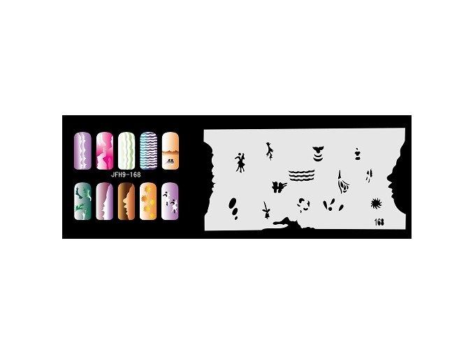 Šablona na nechty (airbrush nail art) Fengda  JFH09-168