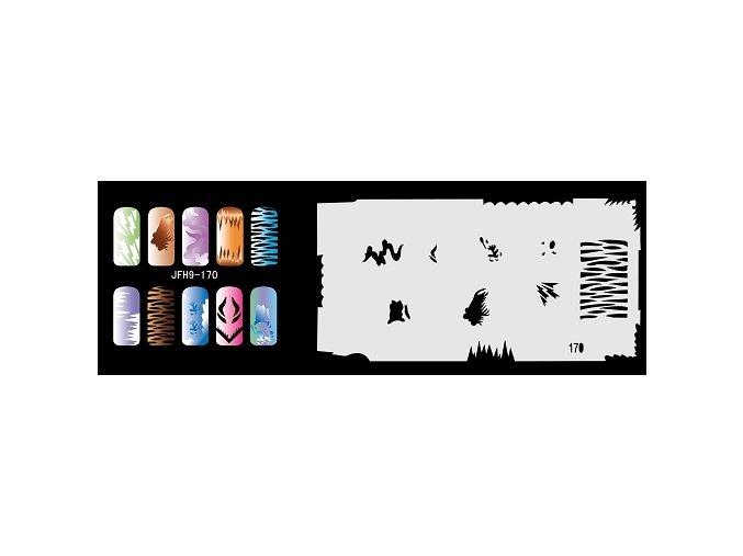 Šablona na nechty (airbrush nail art) Fengda  JFH09-170