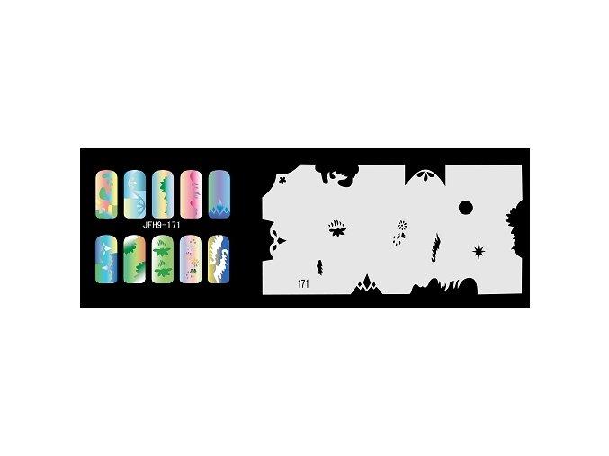 Šablona na nechty (airbrush nail art) Fengda  JFH09-171