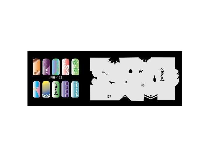Šablona na nechty (airbrush nail art) Fengda  JFH09-172