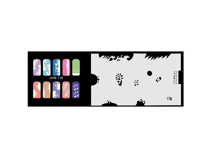 Šablona na nechty (airbrush nail art) Fengda  JFH09-176