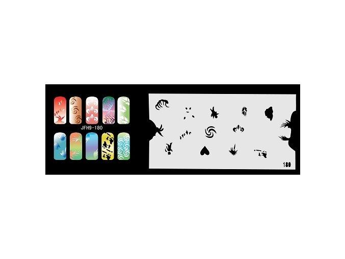 Šablona na nechty (airbrush nail art) Fengda  JFH09-180