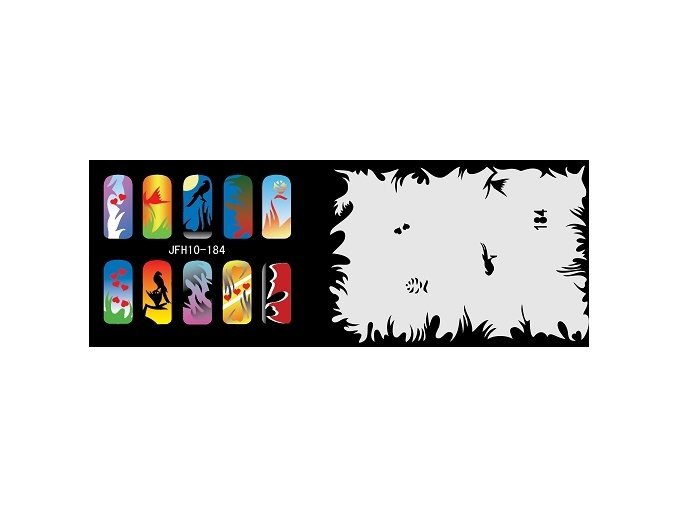 Šablona na nechty (airbrush nail art) Fengda  JFH10-184