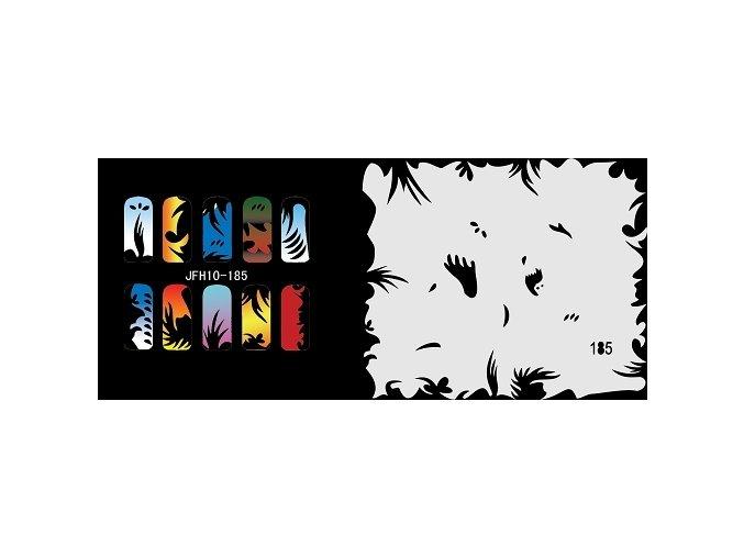 Šablona na nechty (airbrush nail art) Fengda  JFH10-185