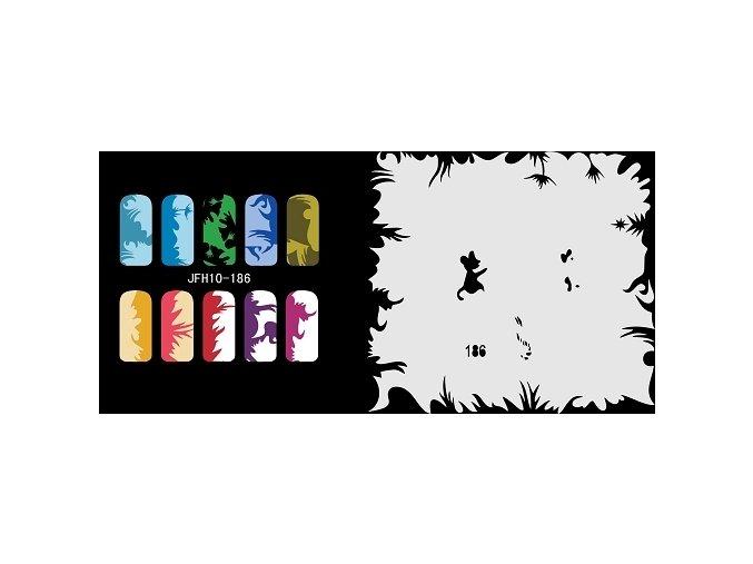 Šablona na nechty (airbrush nail art) Fengda  JFH10-186