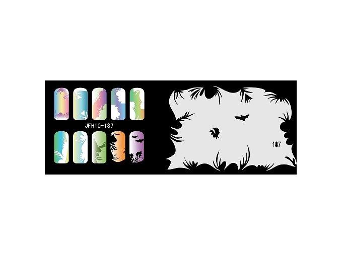 Šablona na nechty (airbrush nail art) Fengda  JFH10-187