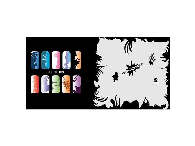 Šablona na nechty (airbrush nail art) Fengda  JFH10-189