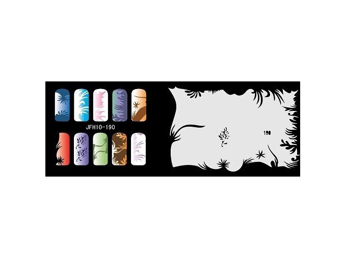 Šablona na nechty (airbrush nail art) Fengda  JFH10-190
