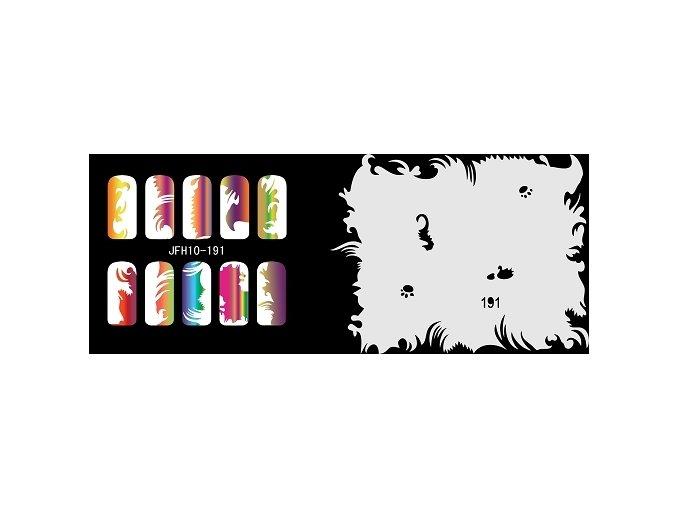 Šablona na nechty (airbrush nail art) Fengda  JFH10-191