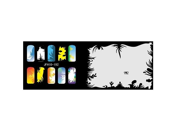 Šablona na nechty (airbrush nail art) Fengda  JFH10-192