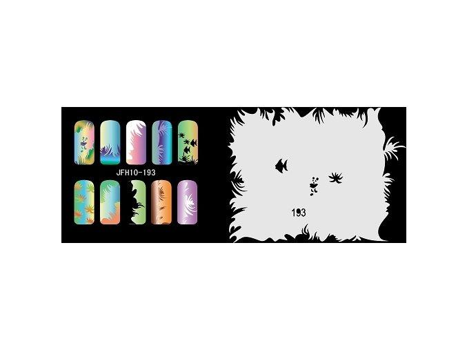 Šablona na nechty (airbrush nail art) Fengda  JFH10-193