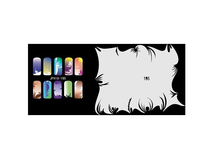 Šablona na nechty (airbrush nail art) Fengda  JFH10-195