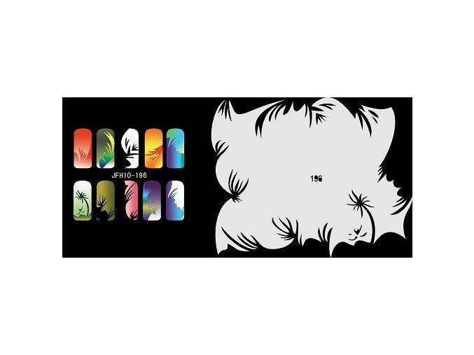 Šablona na nechty (airbrush nail art) Fengda  JFH10-196