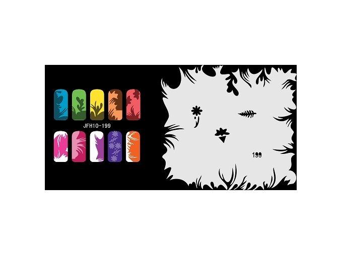 Šablona na nechty (airbrush nail art) Fengda  JFH10-199