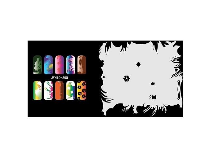 Šablona na nechty (airbrush nail art) Fengda  JFH10-200
