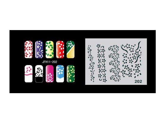 Šablona na nechty (airbrush nail art) Fengda  JFH11-202