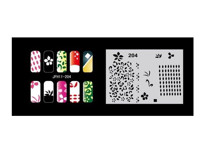 Šablona na nechty (airbrush nail art) Fengda  JFH11-204