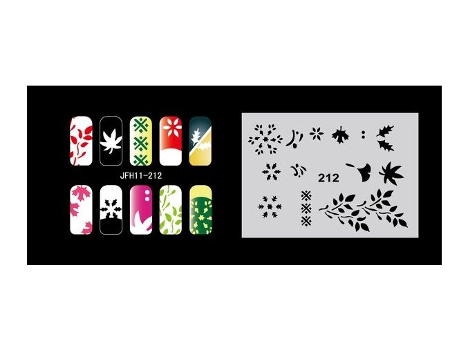 Šablona na nechty (airbrush nail art) Fengda  JFH11-212