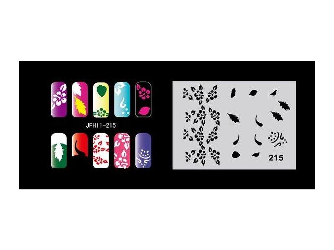 Šablona na nechty (airbrush nail art) Fengda  JFH11-215