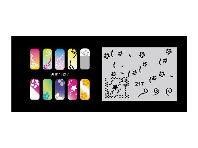 Šablona na nechty (airbrush nail art) Fengda  JFH11-217