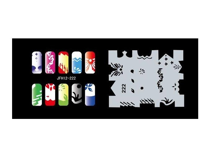 Šablona na nechty (airbrush nail art) Fengda  JFH12-222