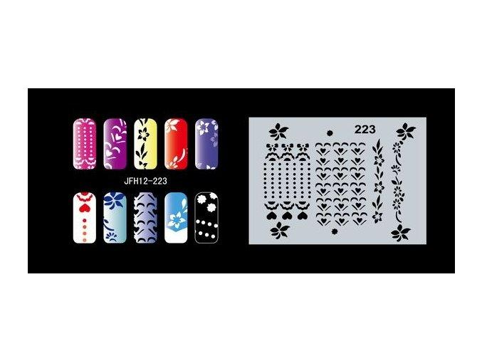 Šablona na nechty (airbrush nail art) Fengda  JFH12-223