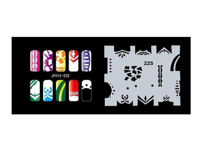 Šablona na nechty (airbrush nail art) Fengda  JFH12-225