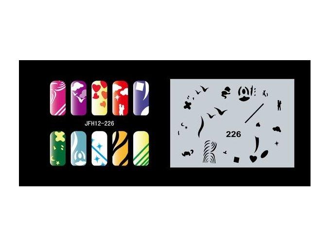Šablona na nechty (airbrush nail art) Fengda  JFH12-226