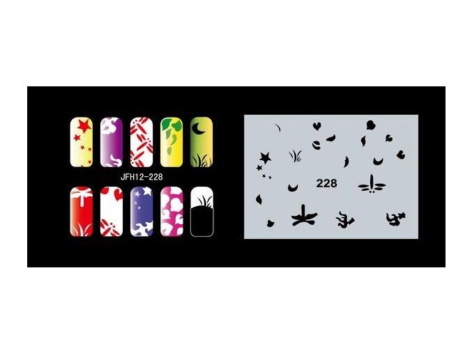 Šablona na nechty (airbrush nail art) Fengda  JFH12-228